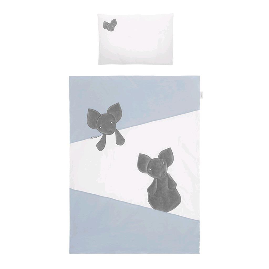 3-dílné ložní povlečení Belisima Mouse 100/135 modré