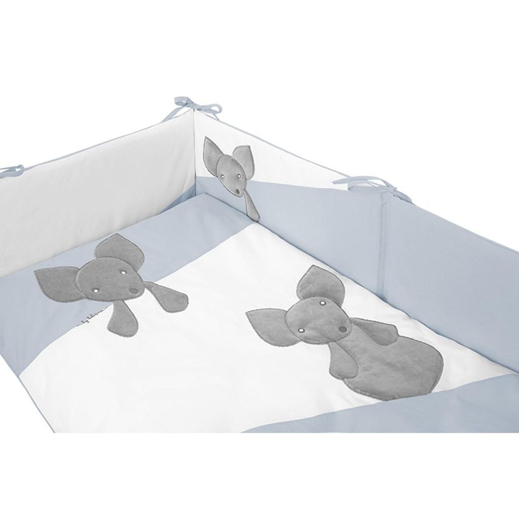 3-dílné ložní povlečení Belisima Mouse 90/120 modré