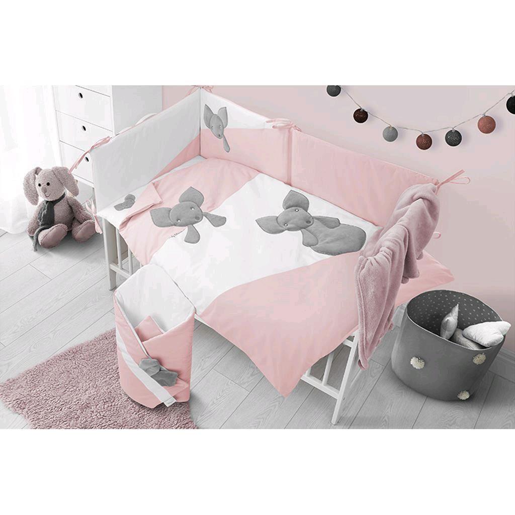Hnízdečko s peřinkou pro miminko Minky Belisima Mouse růžové