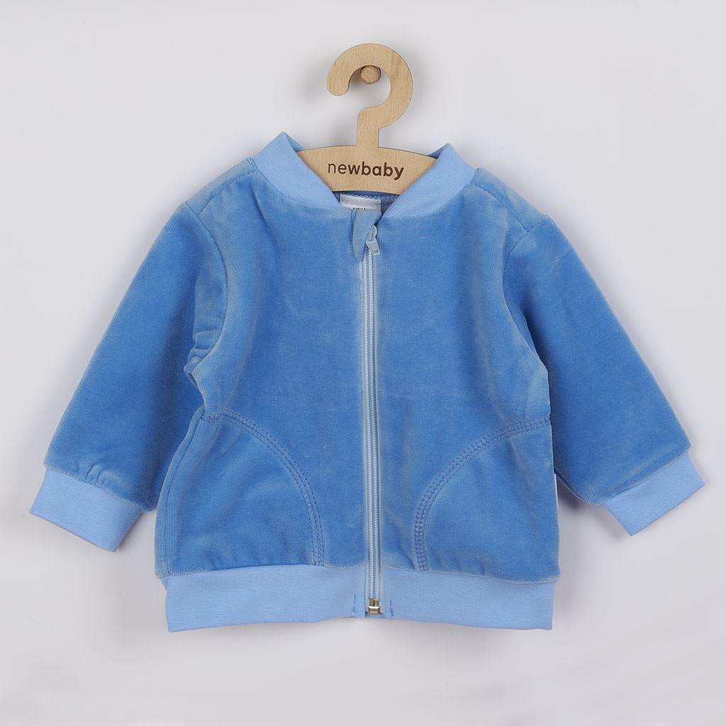 Semišková mikinka New Baby Baby modrá, 74 (6-9m)