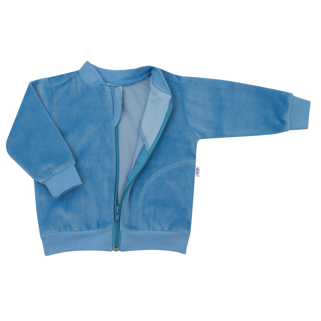 Semišková mikinka New Baby Baby modrá