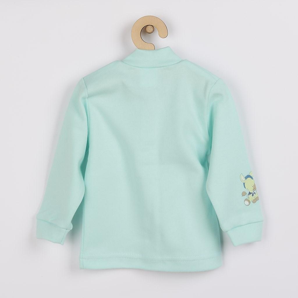 Kojenecký kabátek New Baby Donkey tyrkysový, Velikost: 50