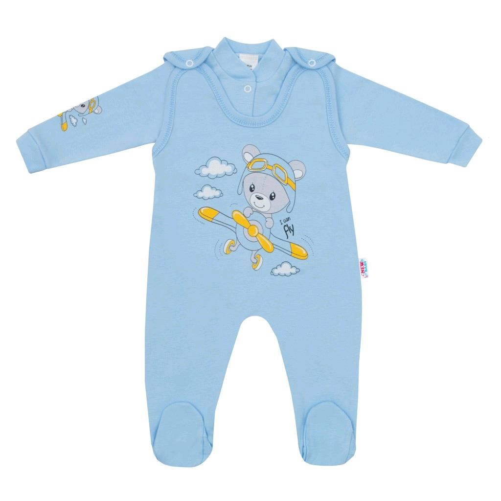 2-dílná souprava New Baby Teddy pilot modrá