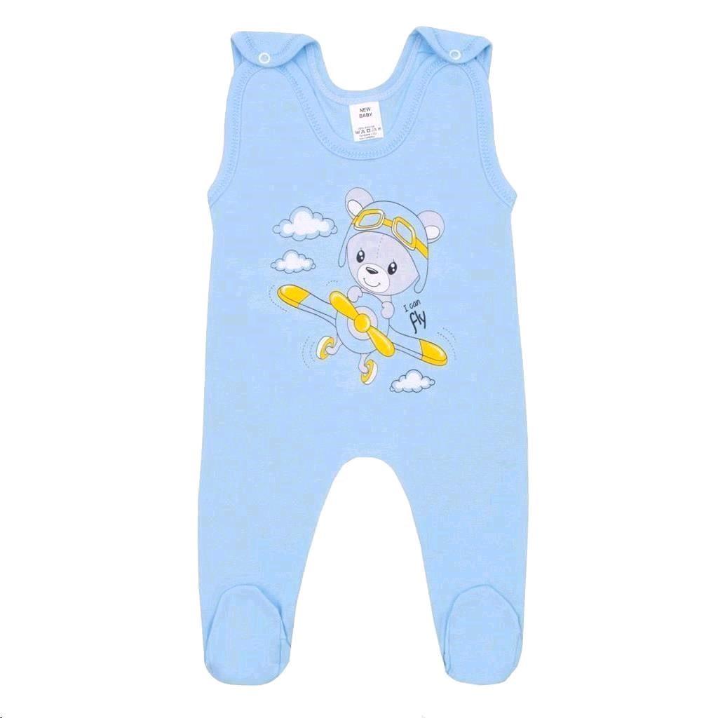 Kojenecké dupačky New Baby Teddy pilot modré, 56 (0-3m)