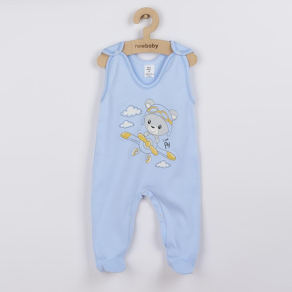 Kojenecké dupačky New Baby Teddy pilot modré, 74 (6-9m)