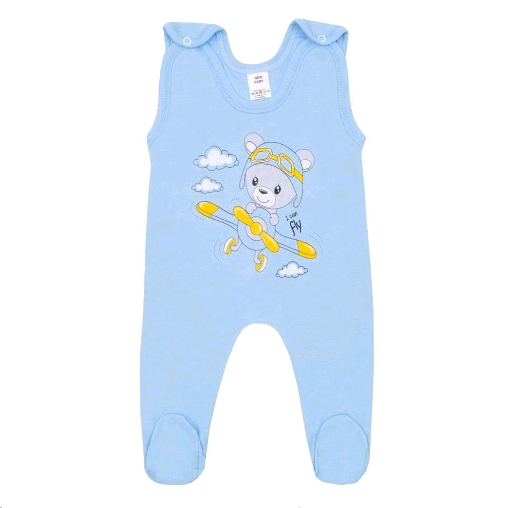 Kojenecké dupačky New Baby Teddy pilot modré, 80 (9-12m)
