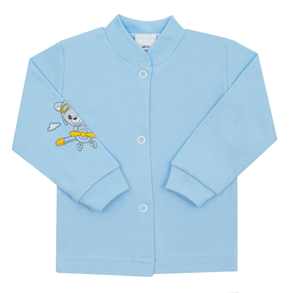 Kojenecký kabátek New Baby Teddy pilot modrý, 68 (4-6m)