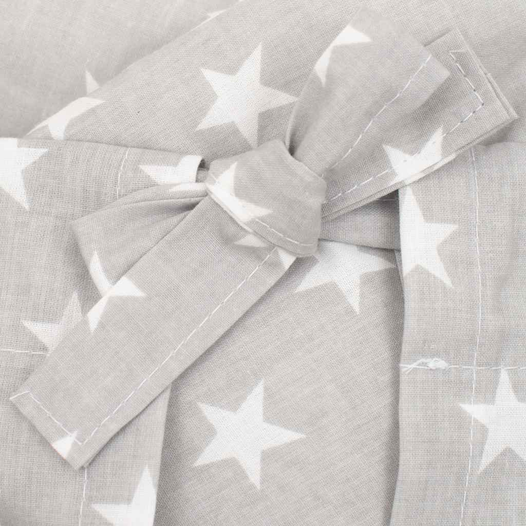 Klasická šněrovací zavinovačka New Baby Hvězdičky šedo-bílá