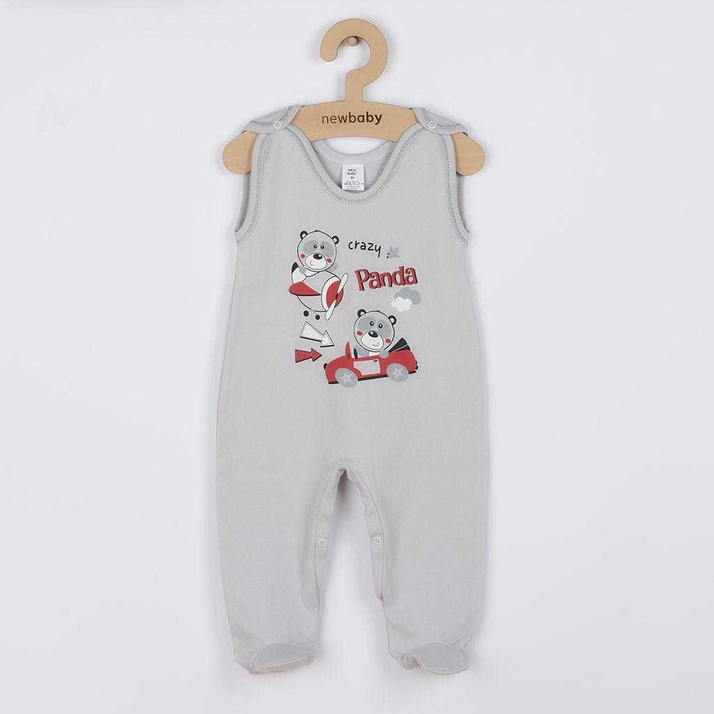 Kojenecké dupačky New Baby Crazy Panda, Velikost: 86 (12-18m)