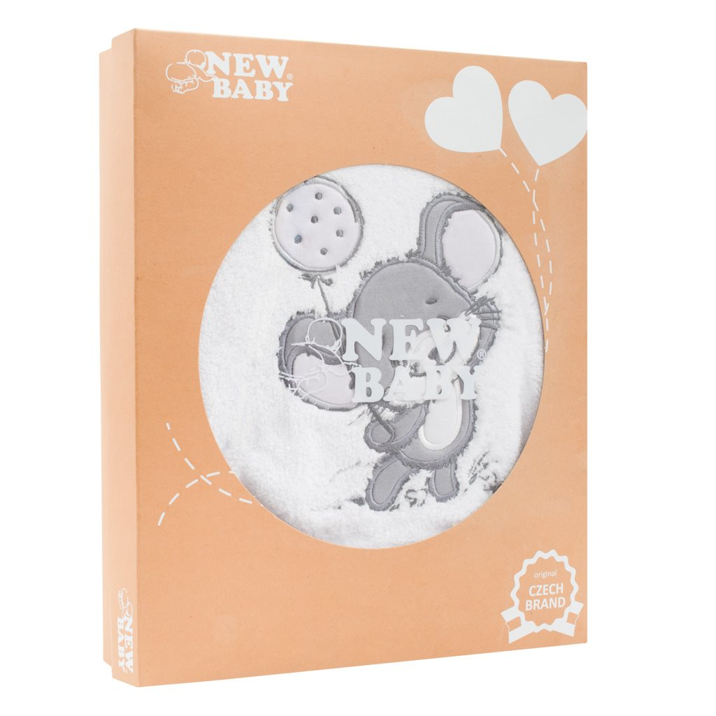 14-dílná luxusní kojenecká souprava New Baby Little Mouse v EKO krabičce vel. 56 (0-3m)