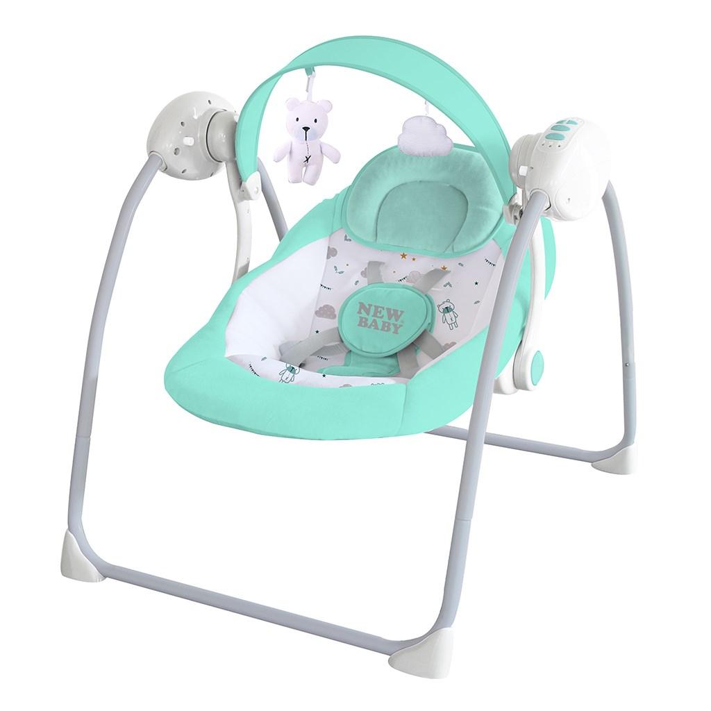 Dětské houpací lehátko NEW BABY TEDDY Mint