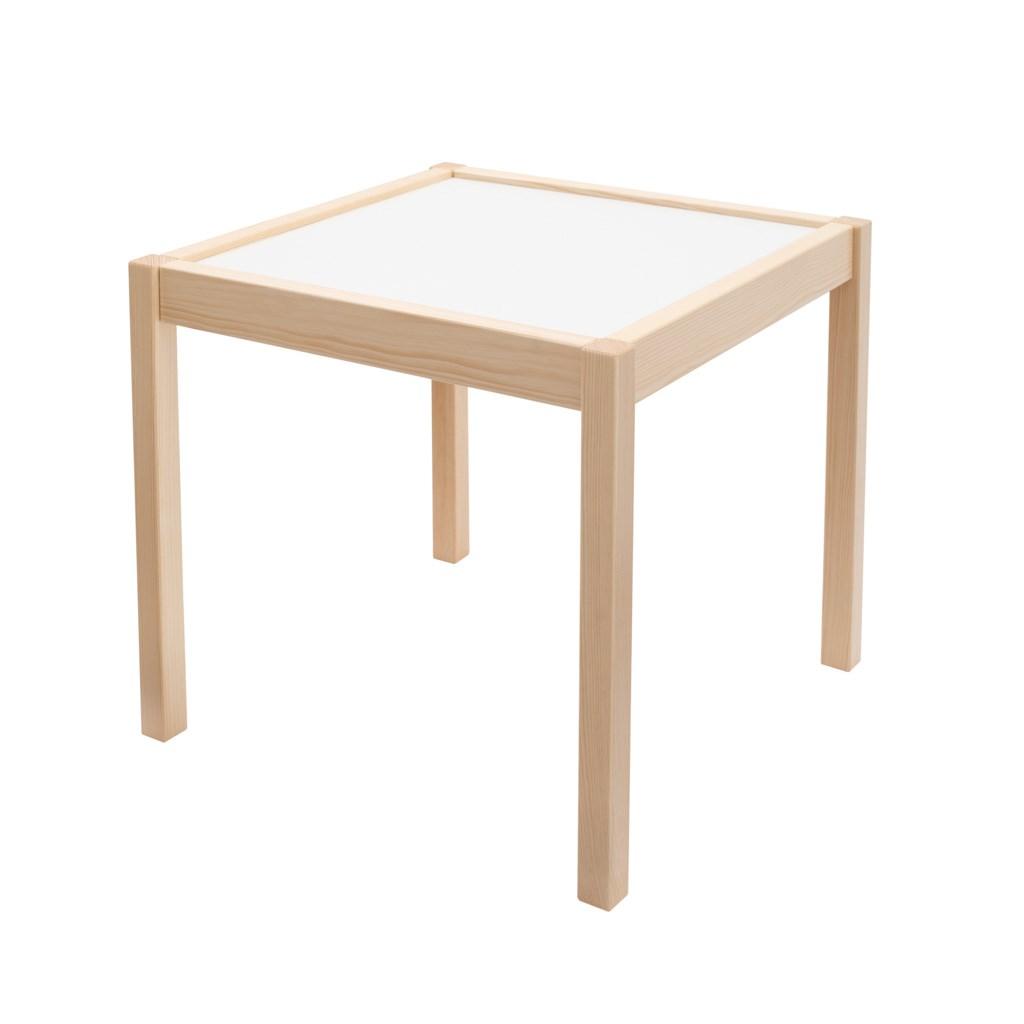 Dětský dřevěný stůl s židličkami New Baby PRIMA přírodní