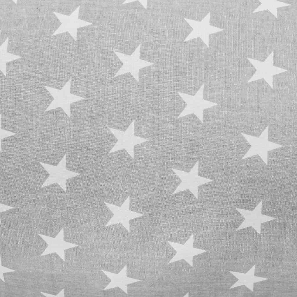 Univerzální kojící polštář ve tvaru C New Baby Hvězdičky šedý