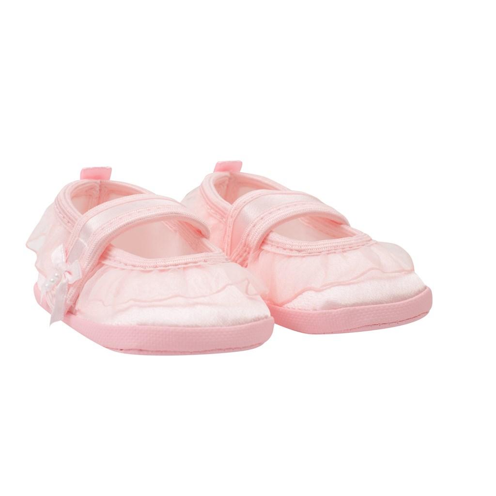 Kojenecké capáčky New Baby saténové růžové 6-12 m