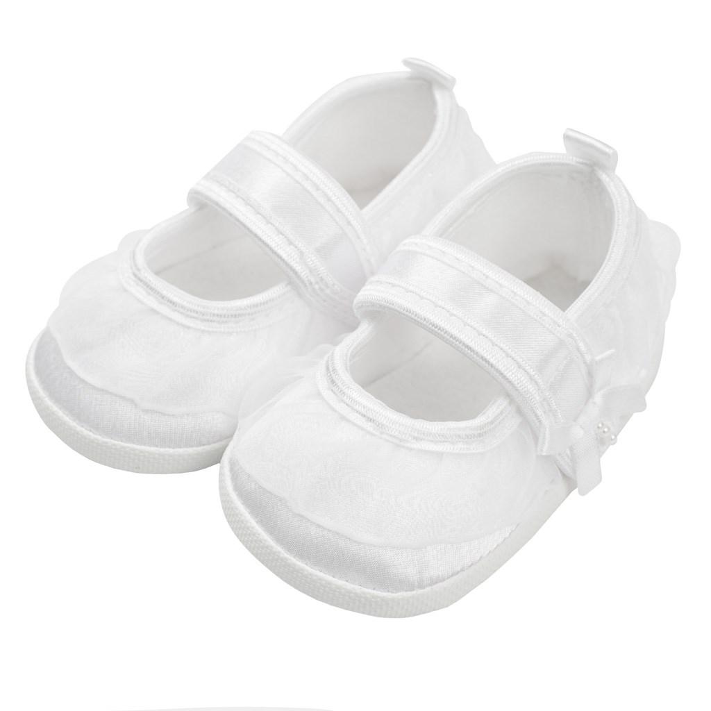 Kojenecké capáčky New Baby saténové bílé 0-3 m, Velikost: 0-3 m
