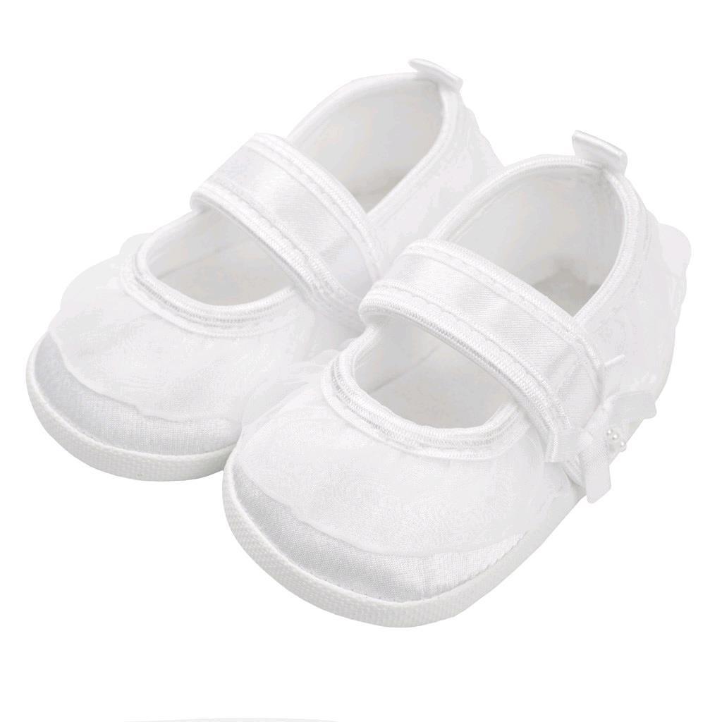 Kojenecké capáčky New Baby saténové bílé 12-18 m, Velikost: 12-18 m