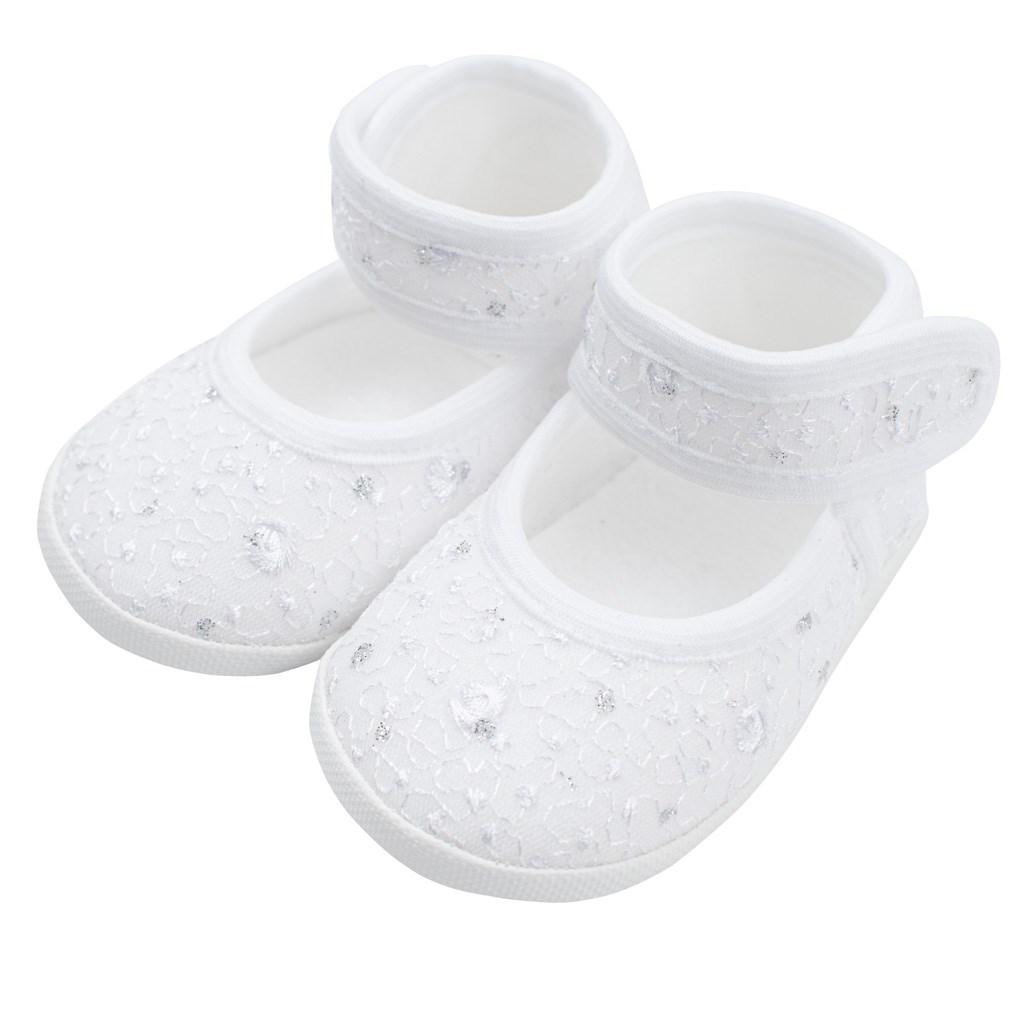 Kojenecké capáčky New Baby stříbrno-bílé 12-18 m, Velikost: 12-18 m
