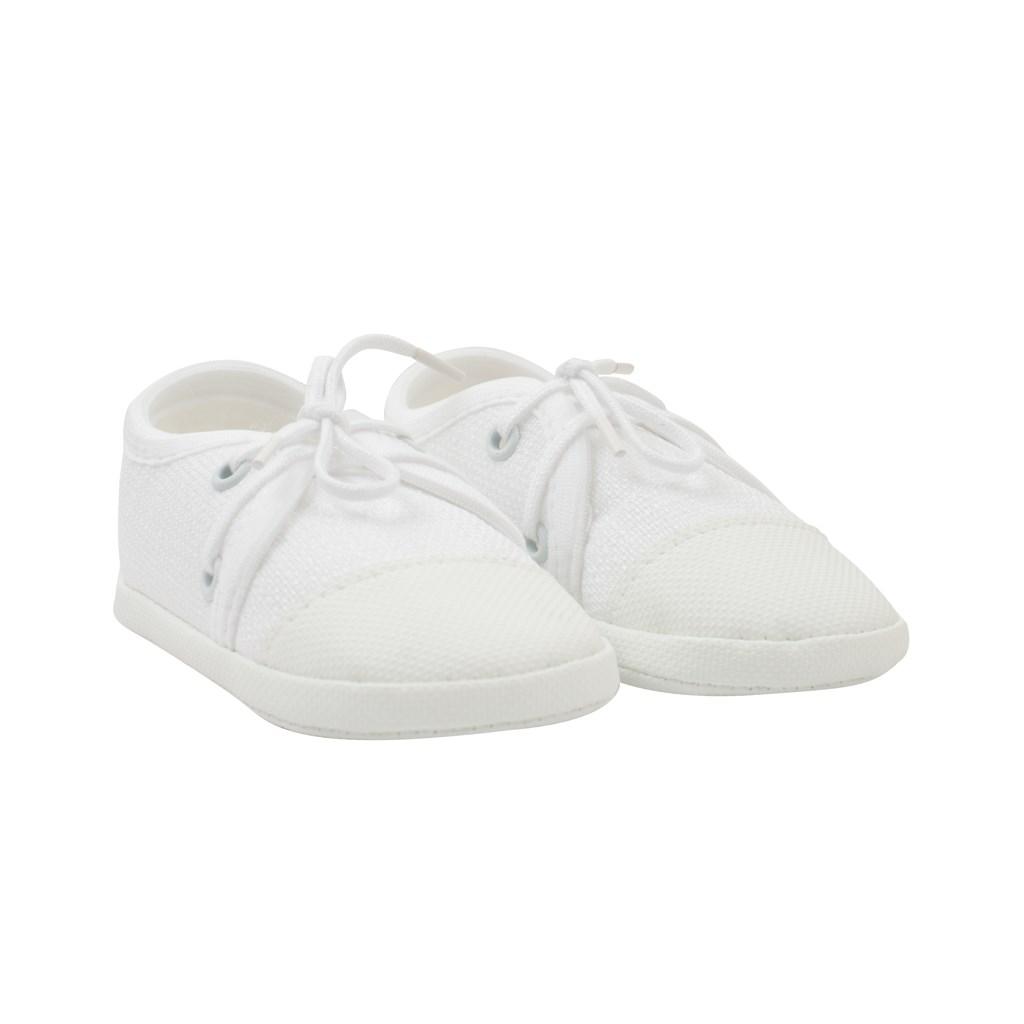 Kojenecké capáčky tenisky New Baby bílé 3-6 m