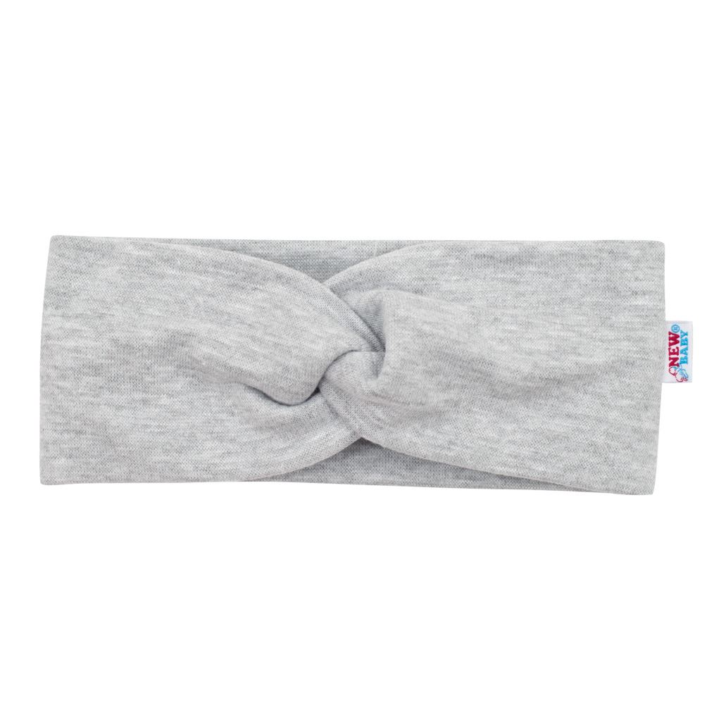 Kojenecká čelenka New Baby Style šedá 37 cm
