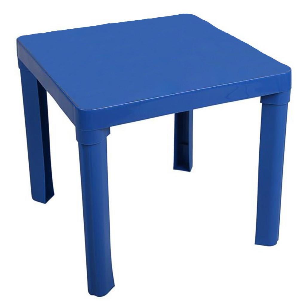 Dětský zahradní nábytek - Plastový stůl modrý bez obrázku