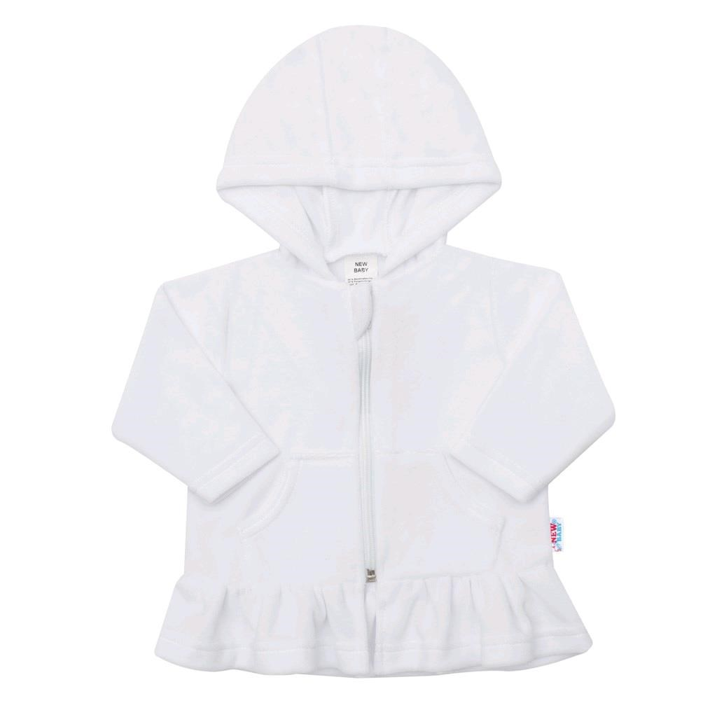 Semišková mikinka s kapucí New Baby Baby bílá, Velikost: 74 (6-9m)