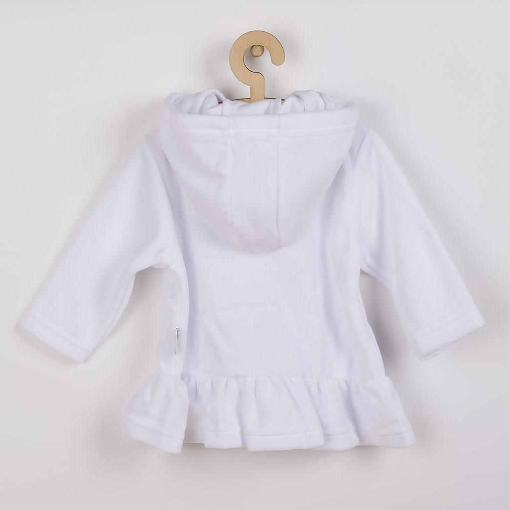 Semišková mikinka s kapucí New Baby Baby bílá