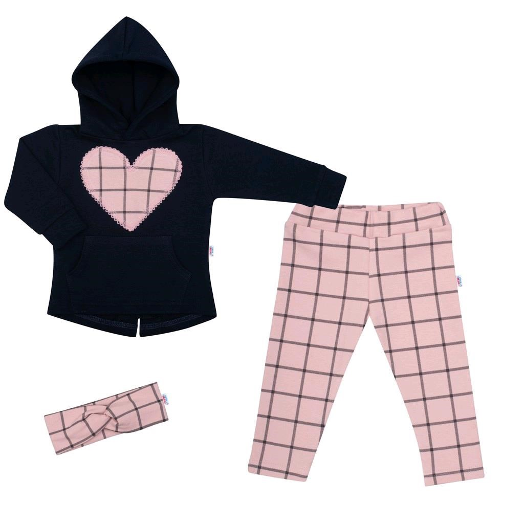 3-dílná holčičí bavlněná souprava New Baby Cool Girls modro-růžová, Velikost: 68 (4-6m)