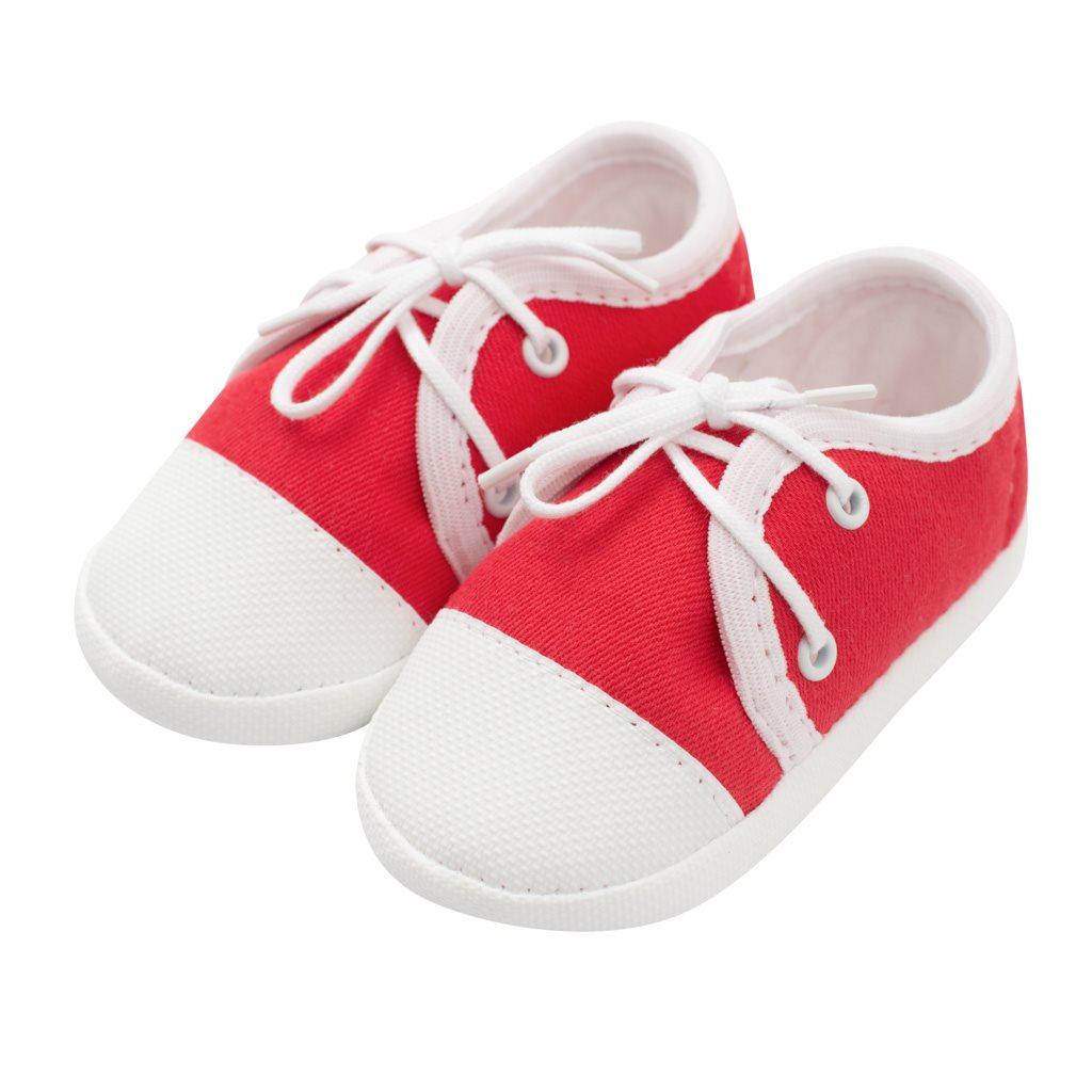 Kojenecké capáčky tenisky New Baby červené 0-3 m, 0-3 m