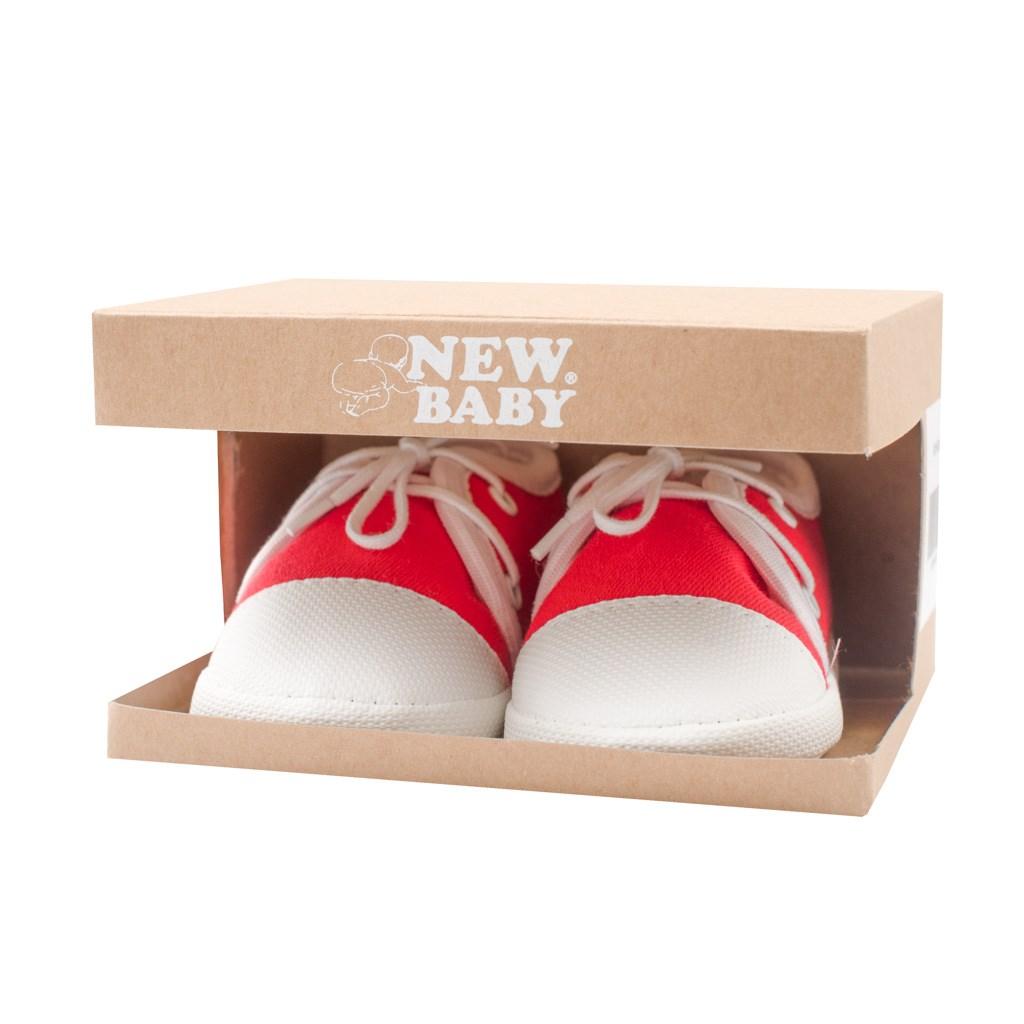 Kojenecké capáčky tenisky New Baby červené 6-12 m