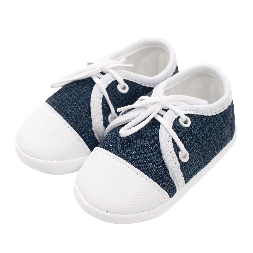 Kojenecké capáčky tenisky New Baby jeans modré 3-6 m, 3-6 m