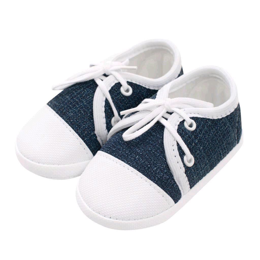 Kojenecké capáčky tenisky New Baby jeans modré 6-12 m, 6-12 m