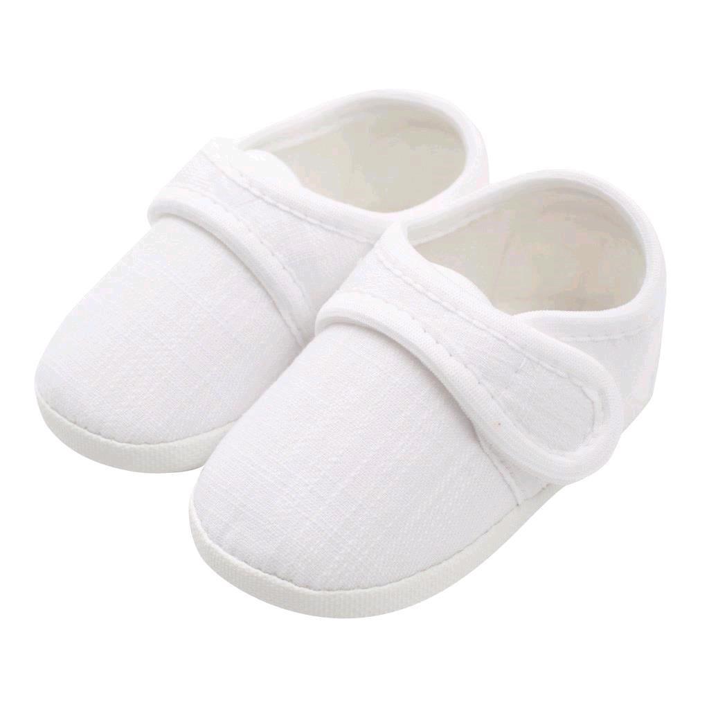 Kojenecké capáčky New Baby Linen bílé 6-12 m