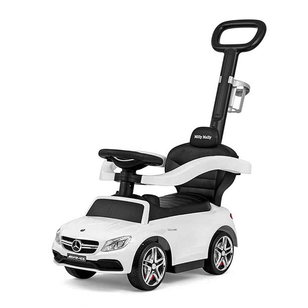Odrážedlo s vodící tyčí Mercedes Benz AMG C63 Coupe Milly Mally white