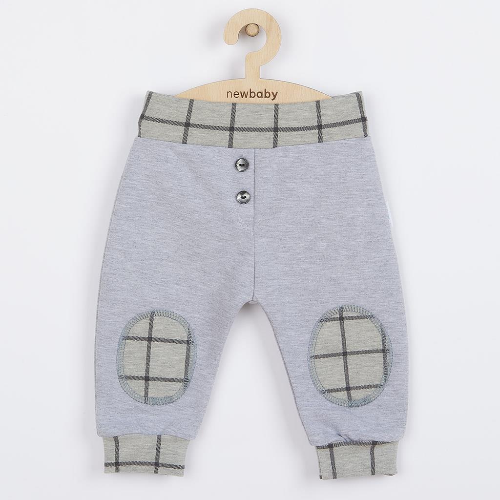 Kojenecké bavlněné tepláčky New Baby Cool šedé vel. 62 (3-6m)