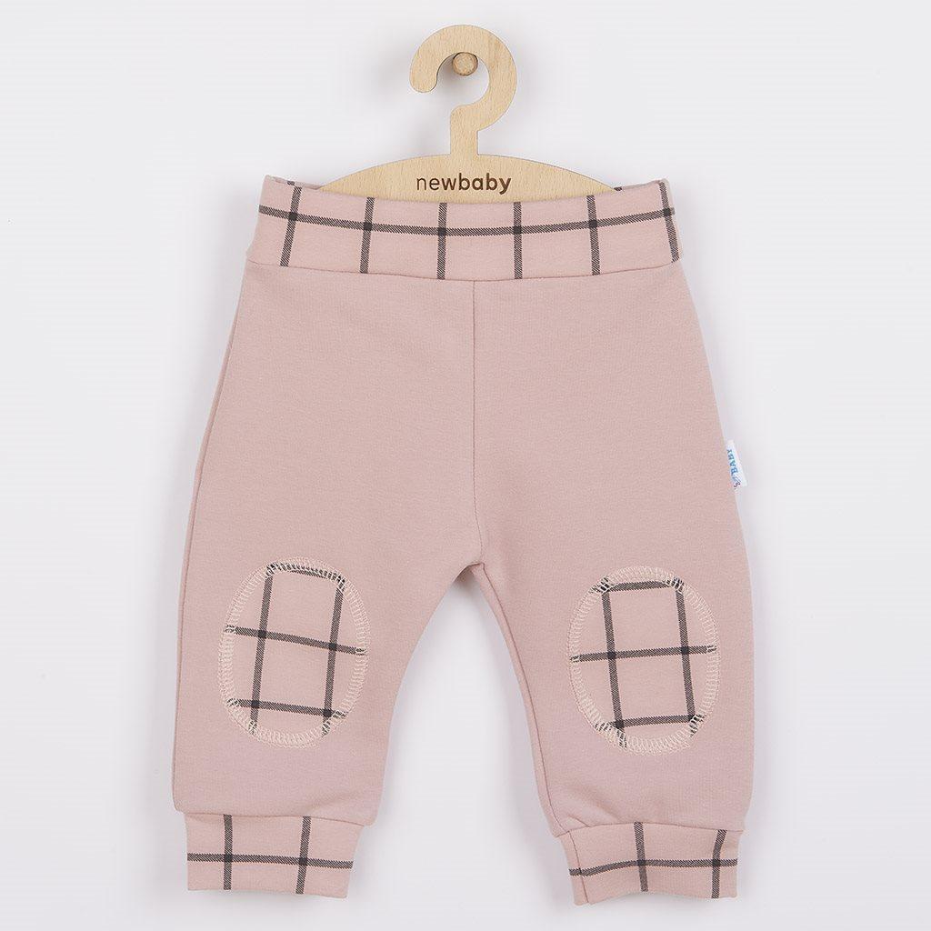 Kojenecké bavlněné tepláčky New Baby Cool růžové, 68 (4-6m)