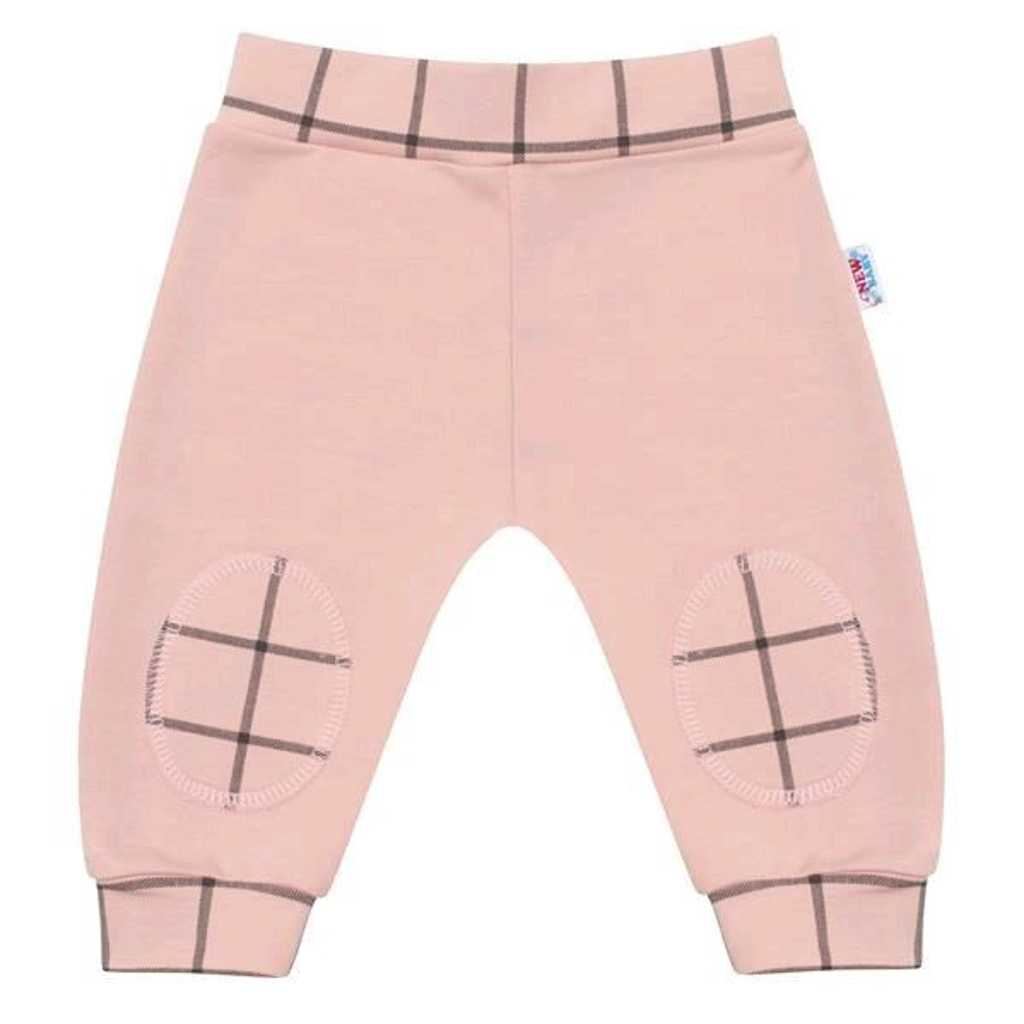 Kojenecké bavlněné tepláčky New Baby Cool růžové, 86 (12-18m)