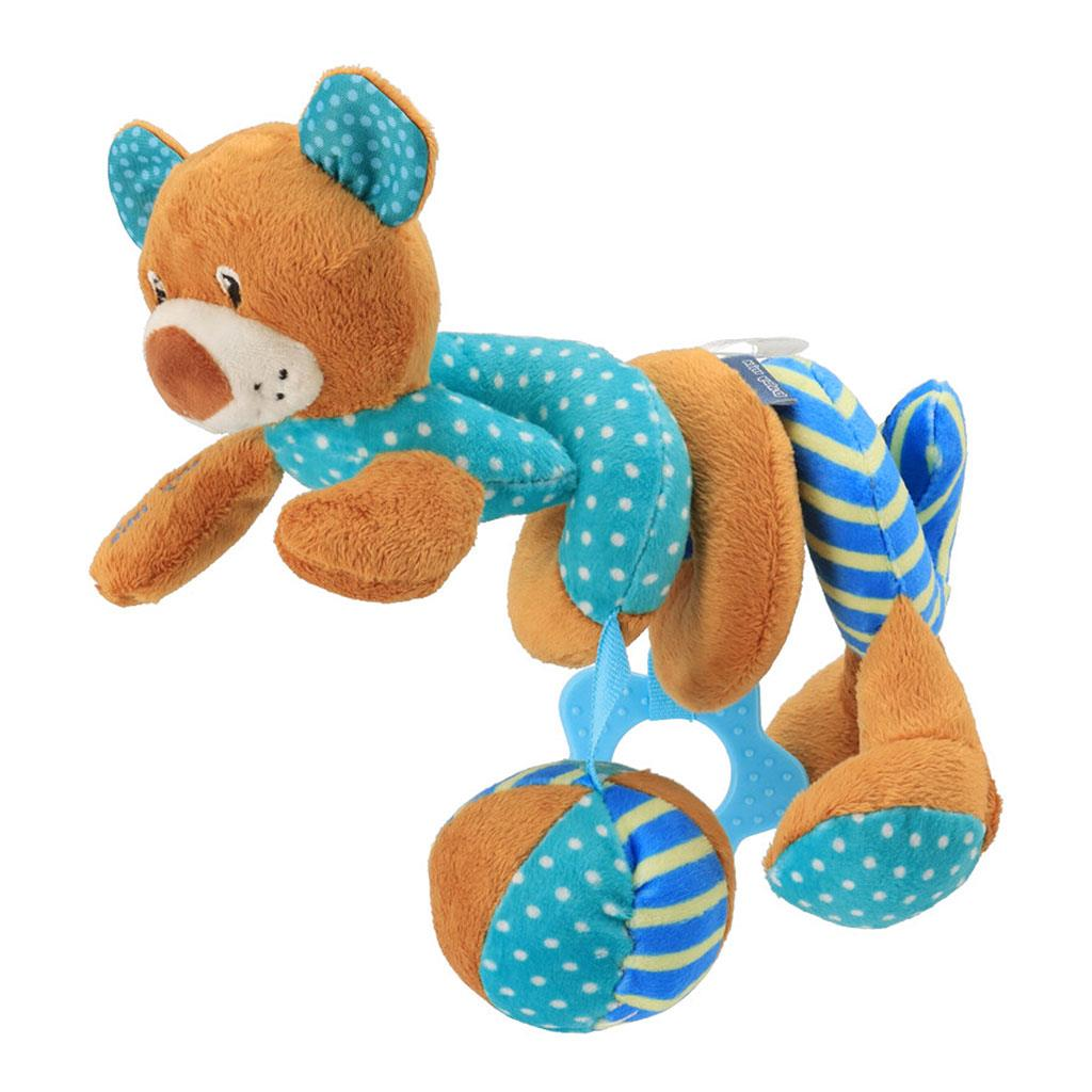 Hračka na postýlku Spirála Baby Mix medvídek modrý