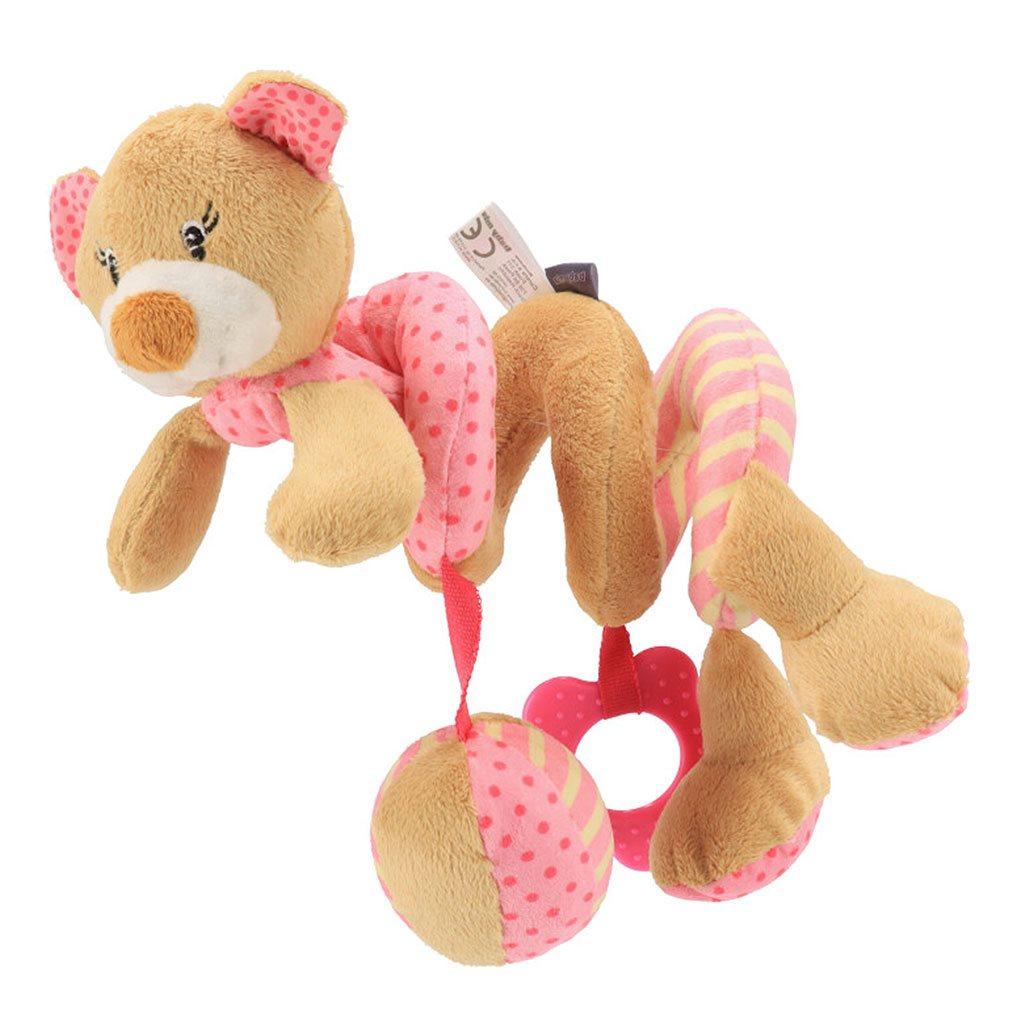 Hračka na postýlku Spirála Baby Mix medvídek růžový