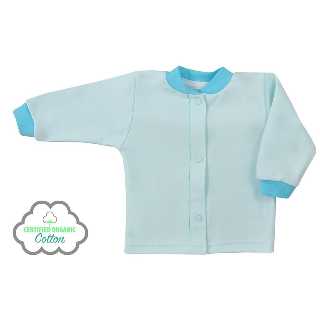 Kojenecký kabátek z organické bavlny Koala Lesní Přítel modrý, vel. 56 (0-3m)