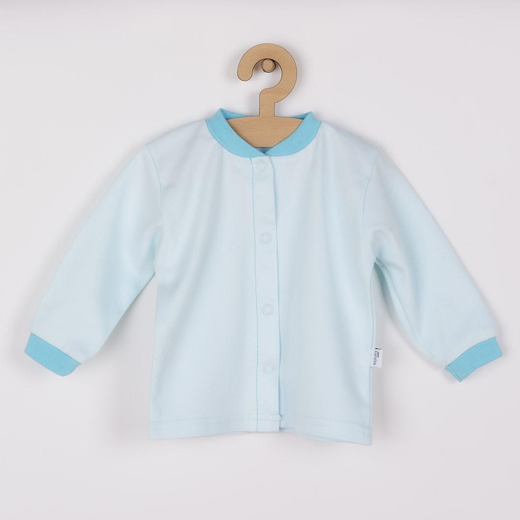 Kojenecký kabátek z organické bavlny Koala Lesní Přítel modrý, vel. 62 (3-6m)