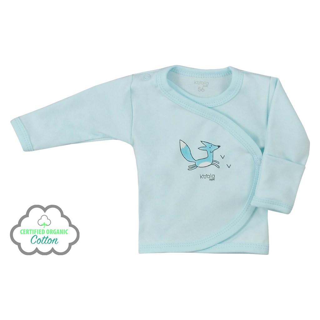 Kojenecká košilka z organické bavlny Koala Lesní Přítel modrá, 62 (3-6m)