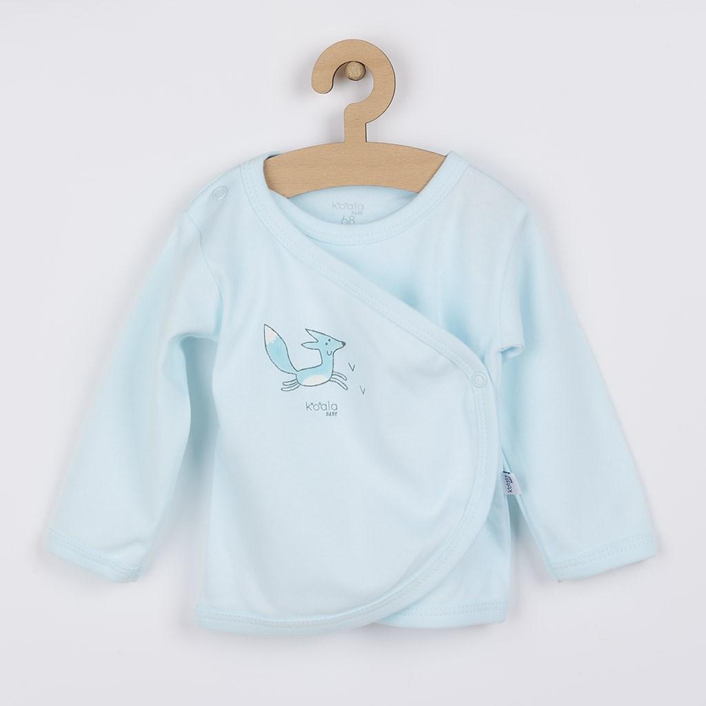 Kojenecká košilka z organické bavlny Koala Lesní Přítel modrá, 68 (4-6m)