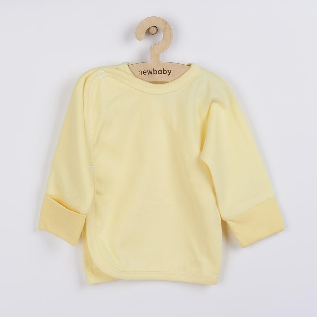 Kojenecká košilka s bočním zapínáním New Baby žlutá, vel. 50