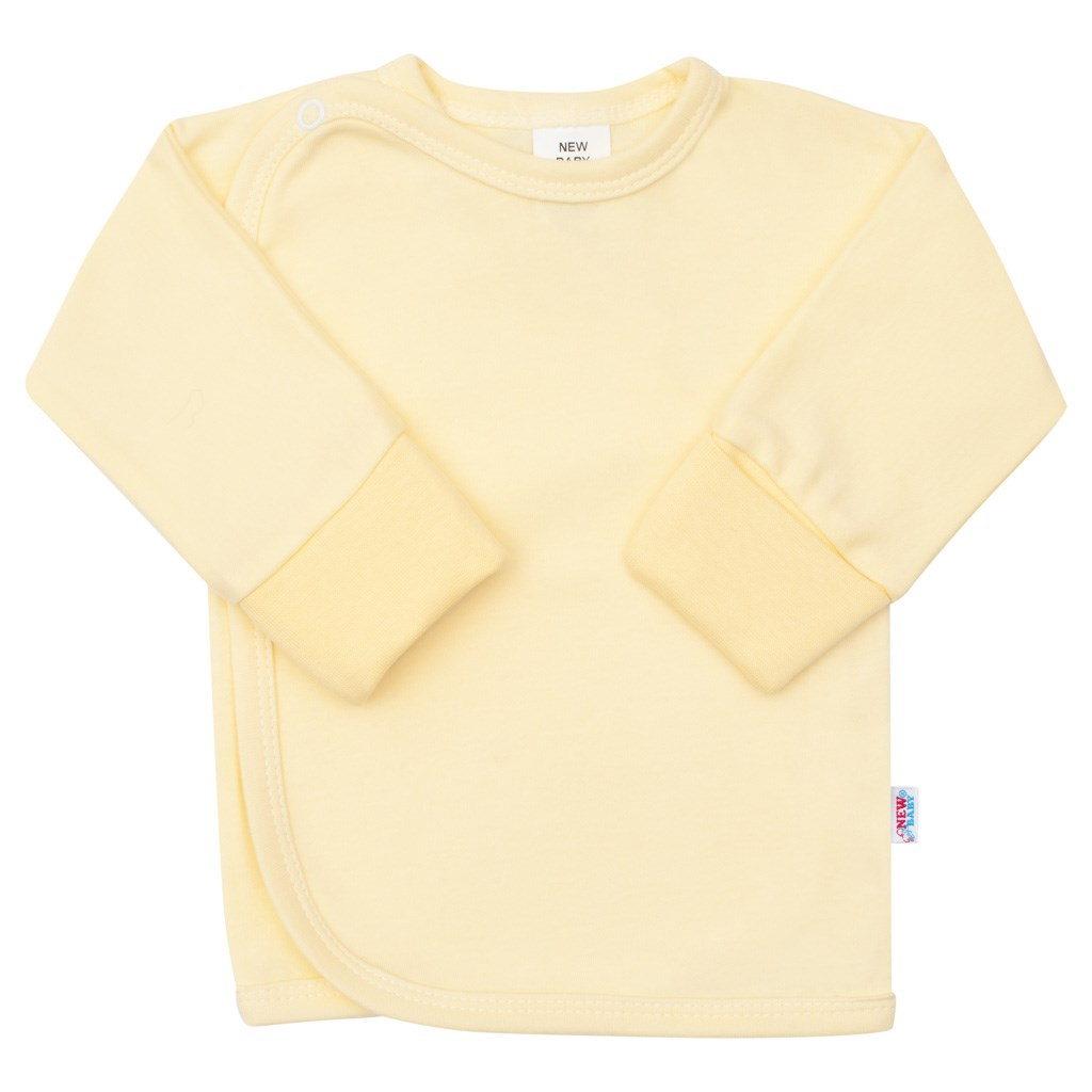 Kojenecká košilka s bočním zapínáním New Baby žlutá, 56 (0-3m)