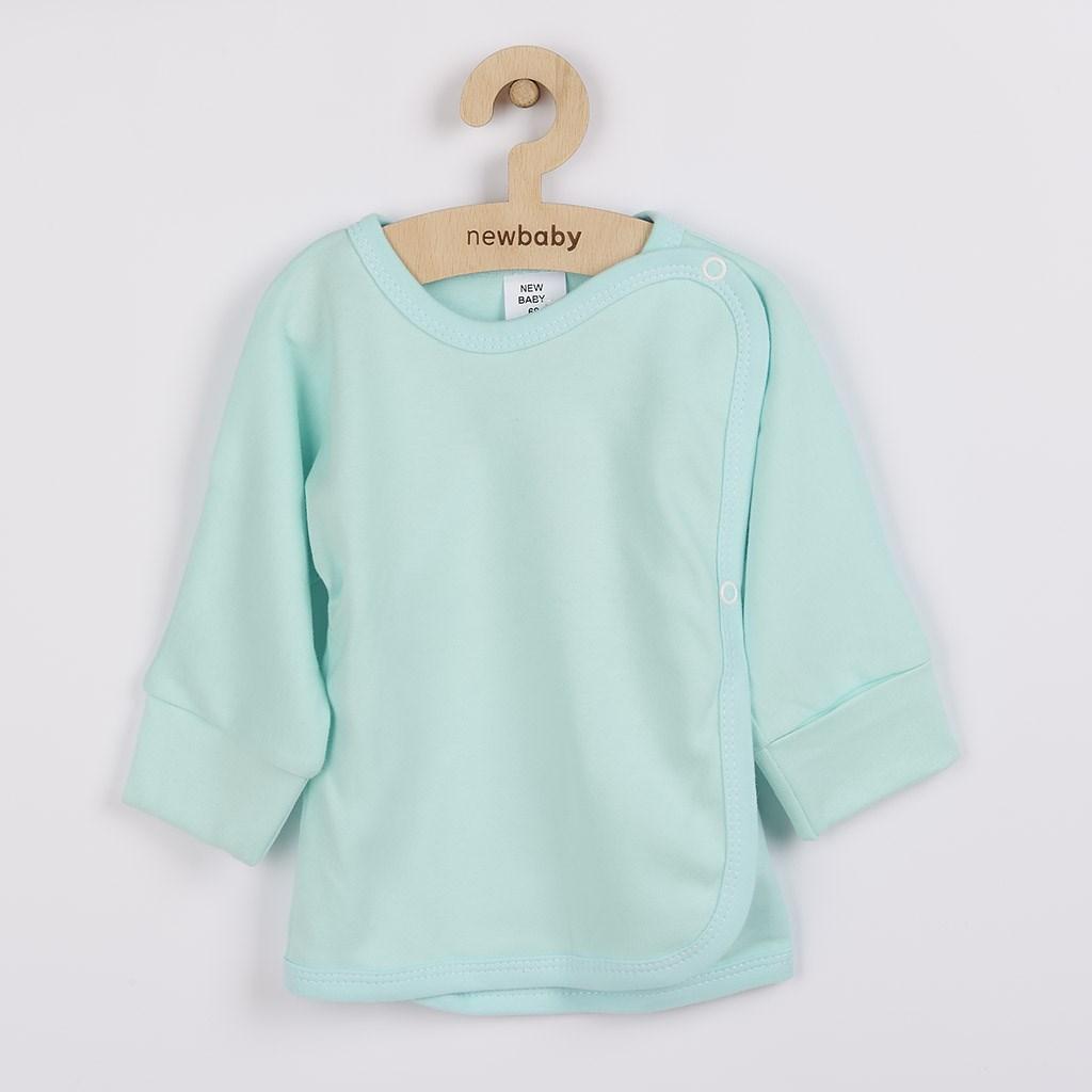 Kojenecká košilka s bočním zapínáním New Baby tyrkysová, vel. 56 (0-3m)