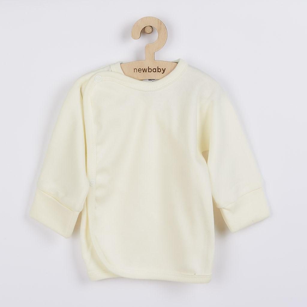 Kojenecká košilka s bočním zapínáním New Baby béžová, vel. 56 (0-3m)