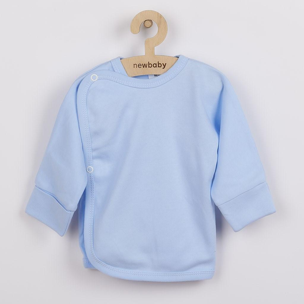 Kojenecká košilka s bočním zapínáním New Baby světle modrá, vel. 56 (0-3m)
