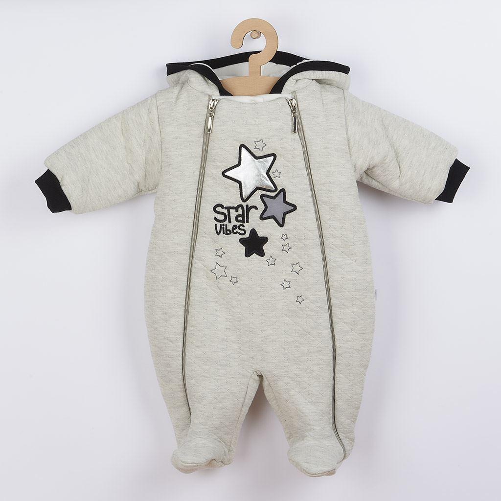 Zimní kojenecká kombinéza s kapucí Koala Star Vibes, vel. 56 (0-3m)