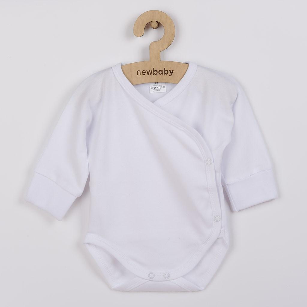 Kojenecké body s bočním zapínáním New Baby bílé, 56 (0-3m)