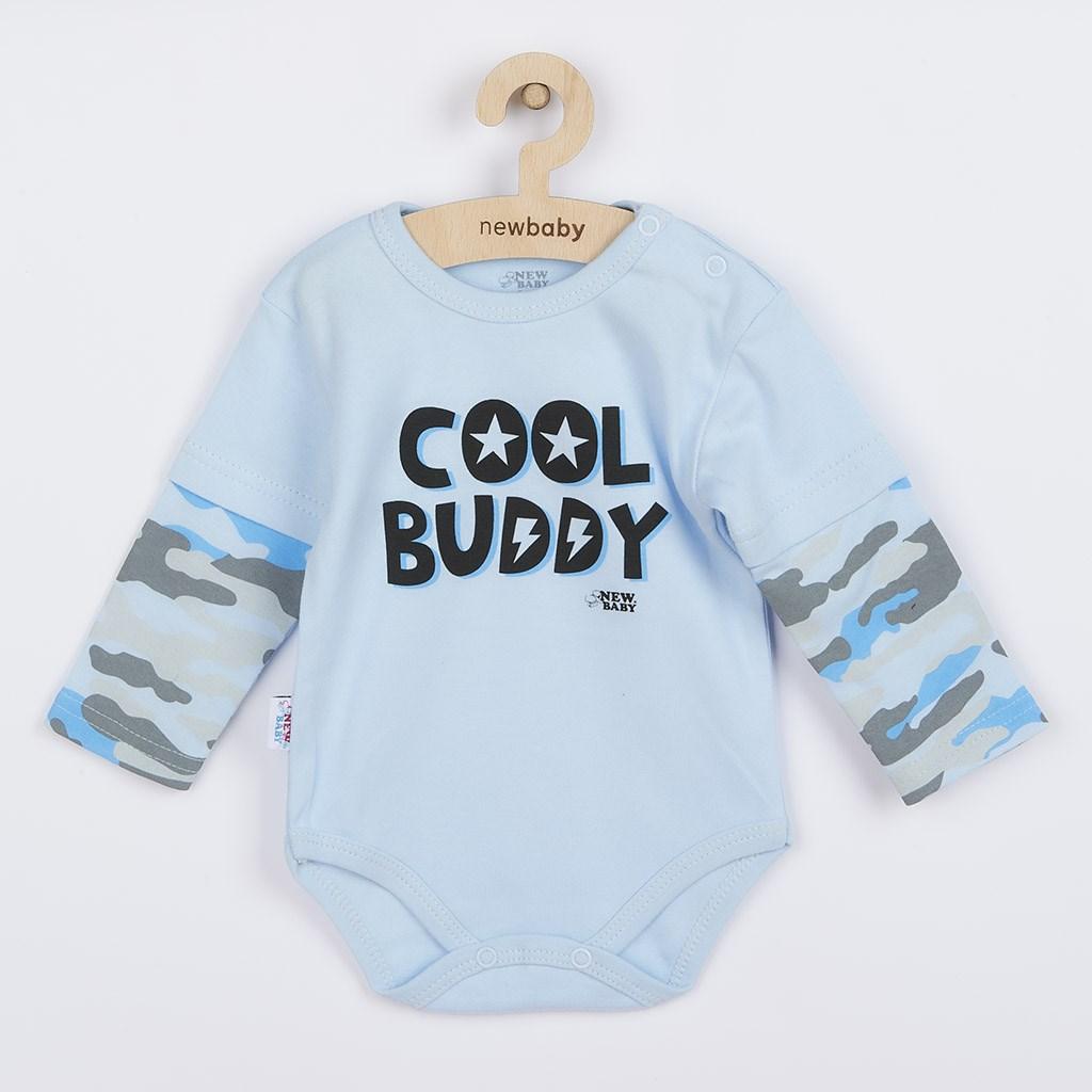 Kojenecké body s dlouhým rukávem New Baby With Love modré, vel. 80 (9-12m)
